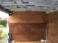 Vivaro wooden bulkhead with metal ladder support