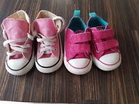 Converse pink size 5 toddler high tops and flats