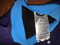 Baby wetsuit with fleece lining blue