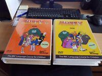 BBC Muzzy Italian Stage 1 & 2 Children's Learning Language DVD & Book Set