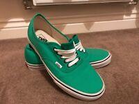 Light green size 11.5uk men's vans shoes.