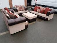 Dfs chesterfield style sofa suite