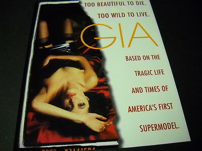 ANGELINA JOLIE is GIA Too Beautiful To Die. To Wild To Live 1998 PROMO AD