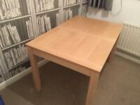 Extendable Light Wood Dining Table