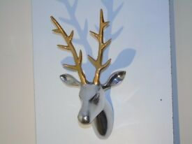 GREAT CHRISTMAS PRODUCT! - RARE STYLE STAG HEAD! NEW SMALL RUDOLF REINDEER