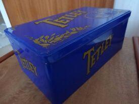 TETLEY TEA METAL TIN - NEW - VINTAGE RETRO
