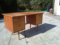 Solid Wood Desk. Very sturdy.