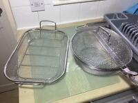 Mesh BBQ veg grilling baskets