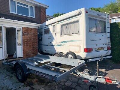 SMALL CAR TRAILER BRIAN JAMES TRAILOR MOTOR HOME TRANSPORTER