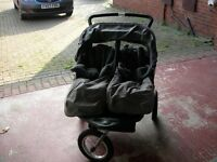 Grey Out N About Nipper 360 Double Buggy