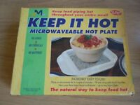 Microwavable hot plate , good for keeping your food warm
