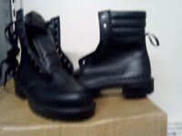 CAR MECHANIC WORK BOOTS Leather with steel toe caps