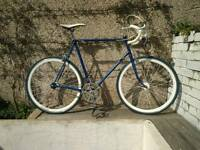 Single Speed Bicycle Raleigh Sun GT50, Blue Label Deep Rim Wheels