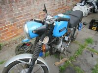 MZ. TS 125cc Project - Complete motorcycle. Low milage, ripe for restoration.