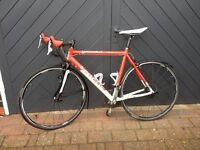 "ROAD BIKE in good condition, 54"" Focus Variado. New threaded tyres and lightweight mudguards"
