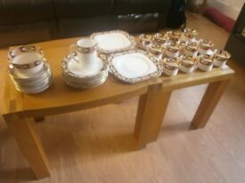 gladstone bone china art deco 40pce tea set