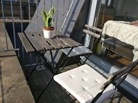 Outdoor table + 2 Chairs with seat cushions (GOING AWAY SALE) ***SOLD***