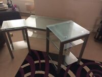 Trio of Glass Tables