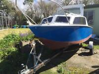 16 foot fishing boat with trailer