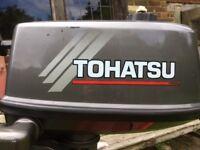 Tohatsu 4hp short shaft 2 stroke outboard motor