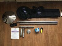 X-Pole xpert 45mm Spinning Pole + Extras