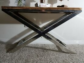 Wooden Top Console Table
