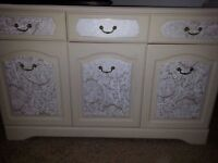 STYLISH SHABBY CHIC SIDEBOARD WITH FREE DELIVERY.