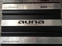 AUNA (ALP406CH) 6000 WATTS 5 CHANNEL HIGH POWER CAR AMP