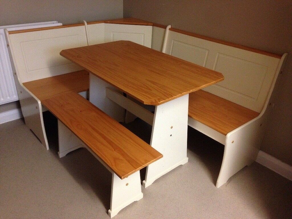 Corner dining table and bench