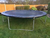 14 foot trampoline - great fun and good exercise