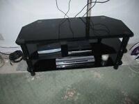 smoked glass tv corner unit