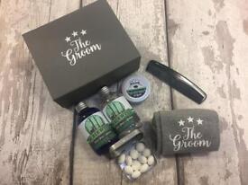 Luxury Groom Wedding Box Gift With Socks/lip Balm/Toiletries and mints