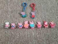 Small Peppa Pig Figures & Keyrings