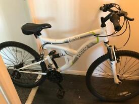 White bike for sale hardly used