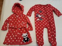 Large bundle of baby girl winter clothes 6-9 months.