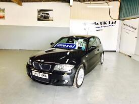 BMW 118D M SPORT AUTOMATIC 1 SERIES DIESEL, 57 PLATE, 80000 MILES, FINANCE AVAILABLE.