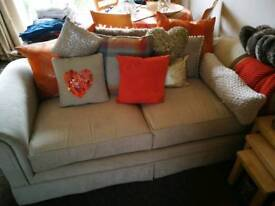 Beige couch/sofa/settee