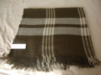 Ladies New Look Brown Checked Oversize Scarf Shawl NEW