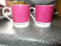 Raspberry Pink Mugs