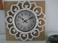 Large wall clock Hearts new in box £5