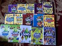 PC Sims 2 and Sims 3 games