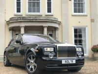 Rolls Royce Phantom / Wedding Car Hire / Birthday / Hen & Stag Nights / Funeral / Luxury Chauffeur