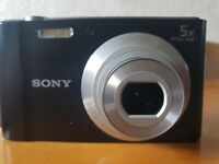 Sony Cybershot DSC-W800 Compact Digital Camera, 20.1 megapixel, comes with case and charger.