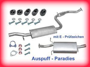 Abgasanlage Auspuff Volvo S40 & V40 1.6 & 1.8 (Typ V) Limousine & Kombi + Kit
