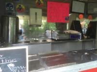 Catering trailer/Burger Van LPG Double Axle AJC/stainless steel