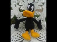OFFICIAL LOONEY TUNES DAFFY DUCK SOFT TOY. LOTS OF SOFT TOYS FOR SALE. BEDROOM. NURSERY COLLECTABLE