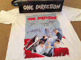 ** SIGNED ONE DIRECTION (1D) T-shirt - £50ono **