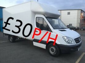 MAN AND VAN REMOVAL SERVICE £30 P/H (ZIRO7871678234)WITH BIG LUTON VAN WITH TAIL LIFT