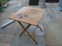 Very Strong Folding Wooden Table