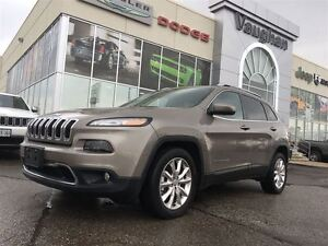 2016 Jeep Cherokee LIMTED * NAVIGATION * LEATHER * ONLY 6445 KMS